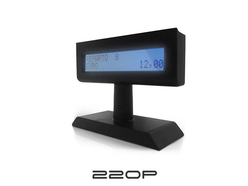Display LCD grafici di cortesia per comunicare alla propria clientela.