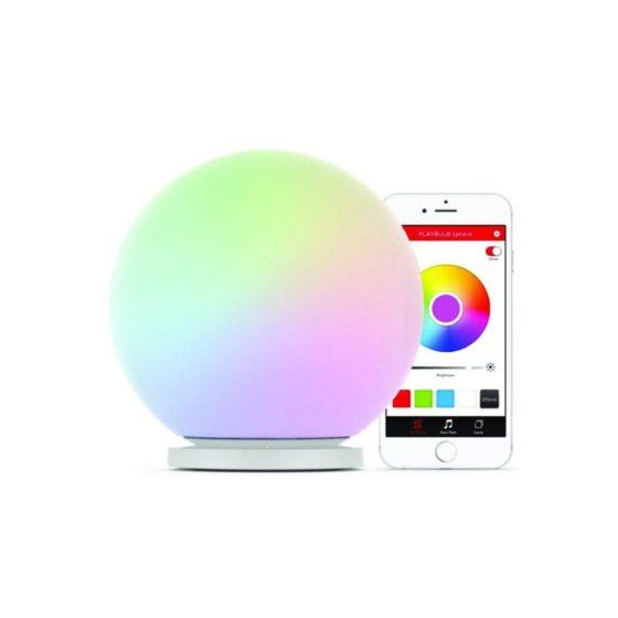 Playbulb Sphere, lampada impermeabile a led che ricarica il tuo smartphone e cambia colore tramite app