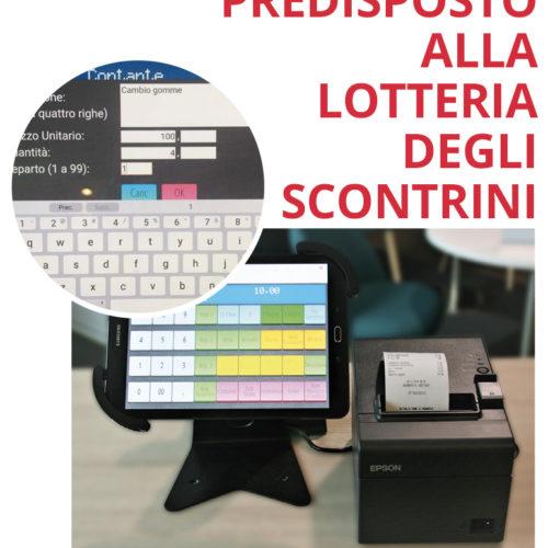 registratore di cassa già predisposto per la lotteria degli scontrini